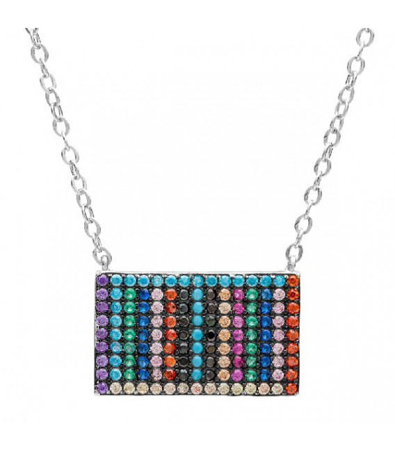 GARGANTILLA RECTANGULAR MULTICOLOR - GA1168