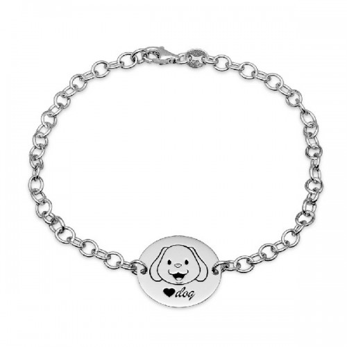 PULSERA LOVE DOG DISCO 17MM - PU4512