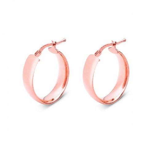 ARO PLANO LISO OVAL 6MM 18X25MM ROSE - PE4878OR
