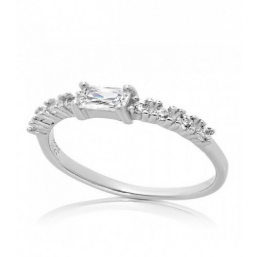 ANILLO CENTRO CZ RECTANGULAR + 8 CZ - SO1445/04